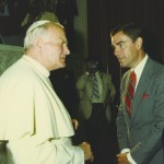 With Pope John Paul II