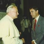 With Pope John Paul II